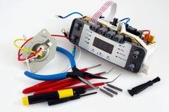 Repair of spar parts and printed circuit boards Stock Image
