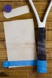 Repair tape to restore tennis racket. Repair tape to restore the handle of a tennis racket Stock Images