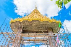 Repair Temple gate thai. Repair Temple gate pattern on the Temples in Thailand Royalty Free Stock Image