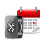Repair and time icon Stock Image