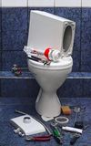 Repair toilet Royalty Free Stock Image