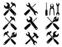 Repair tool icons set Royalty Free Stock Photography