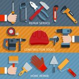 Repair tools banners Stock Image