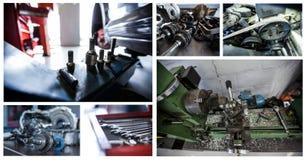 Repair tools collage. Digital composite of repair tools collage royalty free stock images