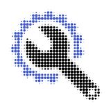 Repair Tools Halftone Dotted Icon stock illustration