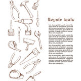Repair Tools Hand drawn vector concept. Royalty Free Stock Photography
