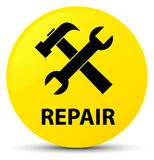 Repair (tools icon) yellow round button Stock Photography