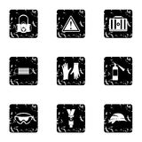 Repair tools icons set, grunge style. Repair tools icons set. Grunge illustration of 9 repair tools vector icons for web Royalty Free Stock Photography