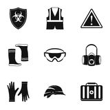 Repair tools icons set, simple style Stock Image