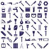 Repair tools icons on white Royalty Free Stock Images
