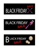 Repair Tools Kits on Black Friday Banners Stock Image