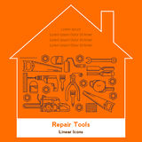 Repair tools linear vector icons Royalty Free Stock Photo