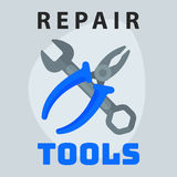 Repair tools pliers wrench icon creative graphic design logo element and service construction work business maintenance Royalty Free Stock Photo