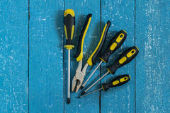 Repair Tools: screwdrivers and pliers Stock Photos