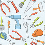 Repair tools seamless pattern. Royalty Free Stock Image