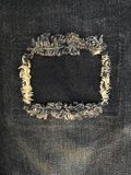 Repair torn jeans Royalty Free Stock Photo