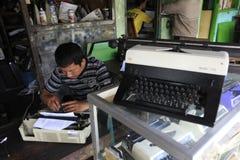 Repair typewriter Stock Image