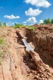 Repair of the underground pipeline Royalty Free Stock Photo