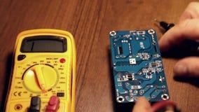 Repair a uninterruptible power supply stock video