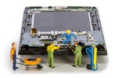 Repair usb connector in smartphone. Miniature - repair usb connector in smartphone Royalty Free Stock Photos