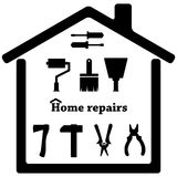 Repair vector icon. Black icon. Royalty Free Stock Image