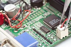 Repair videocard Stock Photo
