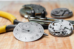 Repair of watches Royalty Free Stock Photo