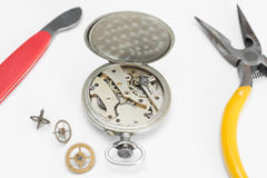 Repair of watches Stock Images