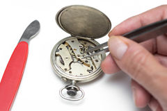 Repair of watches Stock Photography