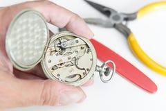 Repair of watches Stock Photo