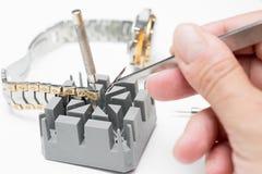 Repair of watches Stock Image