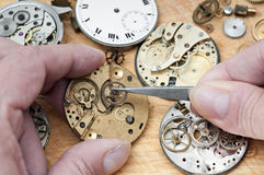 Repair of watches royalty free stock photos