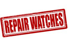 Repair watches. Stamp with text repair watches ine,  illustration Stock Images