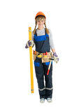 Repair woman isolated Royalty Free Stock Image