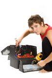 Repair  women Royalty Free Stock Image