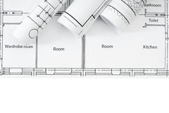 Repair work. Drawings for building on white a Royalty Free Stock Images