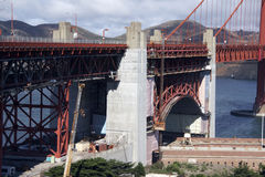 Repair Work at Golden Gate Bridge Stock Image