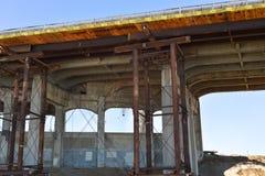 Repair work North Torrey Pines Bridge Stock Photo