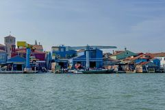Repair workshop along the coast of Burano Royalty Free Stock Photo