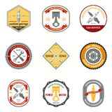 Repair Workshop Emblems Colored Royalty Free Stock Photography