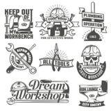 Repair workshop logos Stock Photography