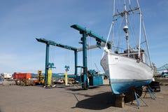Repair yard for boats, Astoria OR. Stock Image