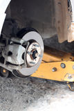 Repaired equipment of car brake disc. Royalty Free Stock Photo