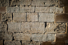 Repaired Medieval stone work Royalty Free Stock Photography