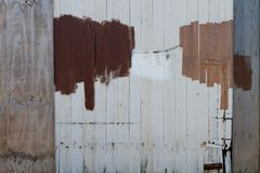 Repaired and painted wooden fence Royalty Free Stock Image