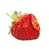 Repaired strawberry Stock Photography