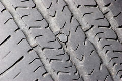 Repaired Tire Royalty Free Stock Photo