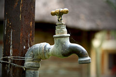 Repaired water tap Stock Photography