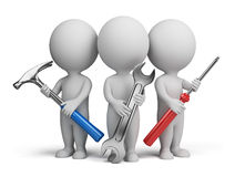 repairers людей 3d малые Стоковые Изображения
