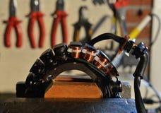 Repairing an alternator Stock Images